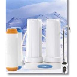 Crystal Quest CQE-CT-00154 Countertop Replaceable Double Nitrate Plus Water Filter System CQE-CT-00154