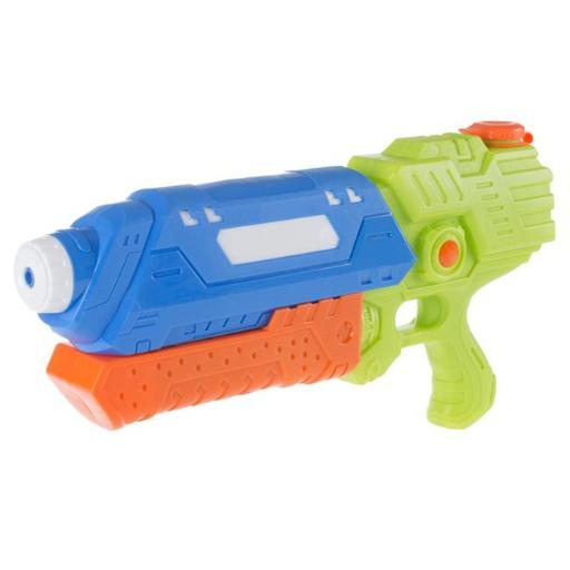 Hey Play M350104 25 ft. Water Gun Soaker with Air Pressure Pump for Kids & Adults, Green & Blue