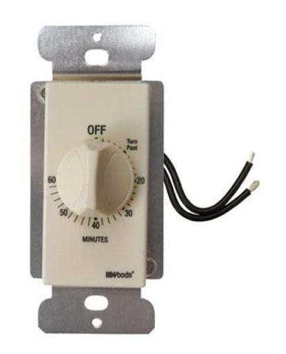 Woods 59718 60 Minute Spring Wound Timer, Almond