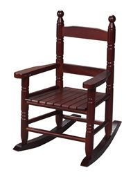 Gift Mark Childs Double Slat Back Rocking Chair - Cherry