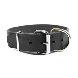 "Dean and Tyler ""B and B"", Basic Leather Dog Collar with Strong Nickel Hardware - Black - Size 20-Inch by 1-1/2-Inch - Fits Neck 18-Inch to 22-Inch"