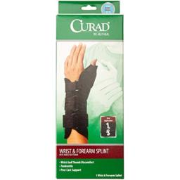 Curad Wrist and Forearm Splint with Abducted Thumb, Right, Small