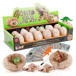 LUKAT Dinosaur Eggs Dino Dig Kits 12 Unique Dinosaurs Excavation Toy Kids gifts for Boys and girls Learning Fun