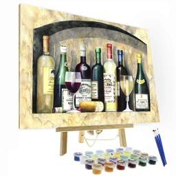 Ancient Wine Paint By Number Painting Set
