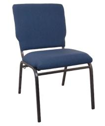 "Offex 18.5"" Wide Navy Molded Foam Multipurpose Church Chair with Silver Vein Frame"