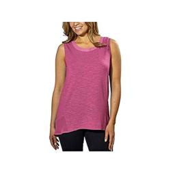 Adrienne Vittadini Ladies High-Low Sleeveless Top (X-Large, Pink Rouge)