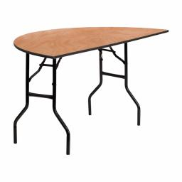 Offex 60'' Half Round Wood Folding Banquet Training Room Table