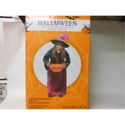 Halloween Decoration Animated Witch 3 Dimensional Indoor or Porch Use