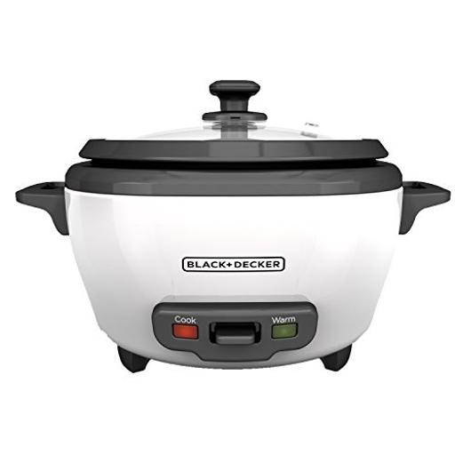 BLACK+DECKER 6-Cup Cooked/3-Cup Uncooked Rice Cooker and Food Steamer Now $13.84 (Was $19.99)