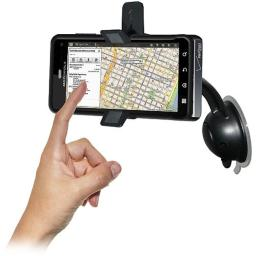 Amzer AMZ93616 Car Mount and Case System for Motorola Droid 3 XT862 - Retail Packaging - Black