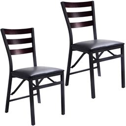 Set of 2 Portable Folding Dining Chairs