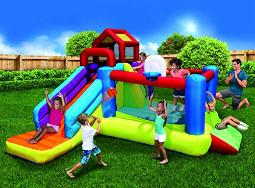 Banzai 2In1 Ultimate Combo Pack Bouncer And Water Parks, Multi