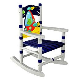 Fantasy Fields Princess & Frog Hand Crafted Kids Wooden Rocking Chair