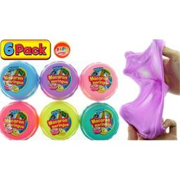 JA-RU Stretchy Macaron Cloud Putty Toy Set Stress Relief (6 Units Assorted) Stress Toy for Kids Girls and Boys Great Party Favors Pinata Filler Slime. Plus 1 Bouncy Ball 6596-6p