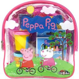 Cra-Z-Art 21018 Peppa Pig Ultimate Activities Backpack Building Kit, Assorted Color