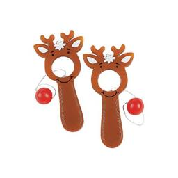 Fun Express - Reindeer Bull's Eye Games for Christmas - Toys - Games - Pin The & Bulls Eye Games - Christmas - 48 Pieces