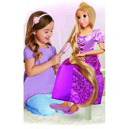 """Disney Princess Rapunzel 32"""" Playdate, My Size Articulated Doll, Comes with Brush to Comb Her Long Golden Locks, Movie Inspired Purple Dress, Removable Shoes & A Tiara"""