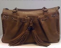 Giorgio Armani Bag Ecru Caramel Brown