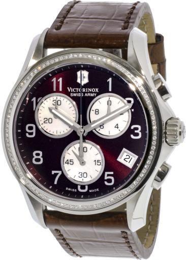 Victorinox Swiss Army Women's 241420 Brown Leather Chronograph Fashion Watch