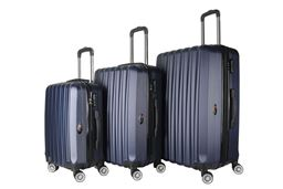 Brio Luggage Hardside Spinner Luggage Set #1600 - Navy