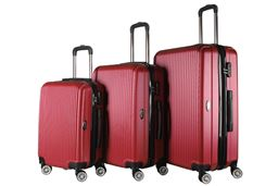Brio Luggage Hardside Spinner Luggage Set #1310 - Red