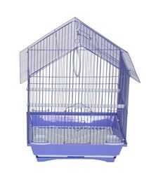 """YML A1314MPUR House Top Style Small Parakeet Cage - 13.3"""" x 10.8"""" x 17.8"""" - Purple"""