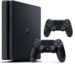 Sony PlayStation 4 Slim 1TB Jet Black Console + Extra Controller Brand New