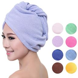 Microfiber Hair Towels Ultra Absorbent Material For Quick Dry Hair - Recommended For Children - Blue 618538943012