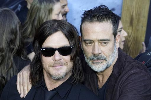 Norman Reedus, Jeffrey Dean Morgan At Arrivals For Amc'S The Walking Dead 100Th Episode Party, The Greek Theatre, Los Angeles, Ca October 22.