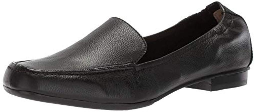ADRIENNE VITTADINI Footwear Women's Angela Ballet Flat, Black, 7 M US