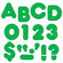 Trend Enterprises T-458BN 4 in. Casual Ready Letters, Green Spark - Pack of 6
