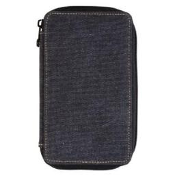 Global Art Materials 259240 Canvas Pencil Case Black, Capacity 24