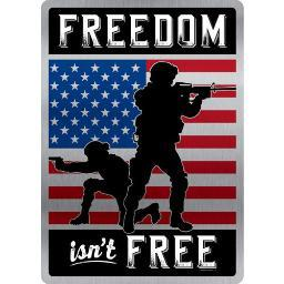 Open road brands 90163815s open road brands emb tin sign freedom isn't free 10x14