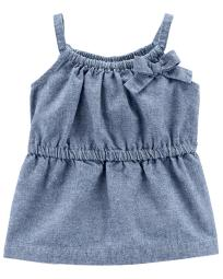 Carter's Baby Girls' Chambray Tunic, 24 Months