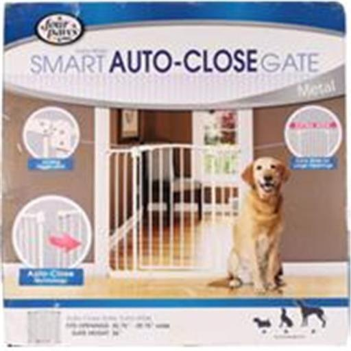 Four Paws Products 436176 Auto Closing Metal Gate x Wide
