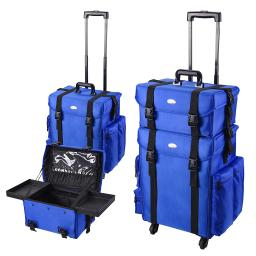2in1 Professional Makeup Case with Detachable Wheels Rolling Makeup Train Case