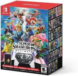 Nintendo Switch Super Smash Bros. Ultimate Special Edition Controller and Game Bundle
