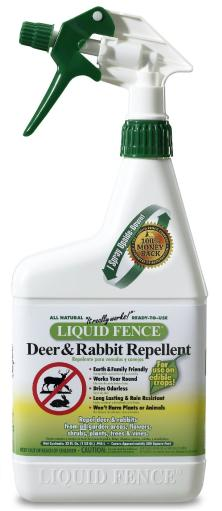 Liquid Fence 00112 Ready To Use Deer And Rabbit Repellent, 32 Oz.