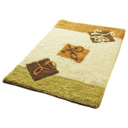Naomi - Beige Leaf Luxury Home Rugs (19.7 by 31.5 inches)