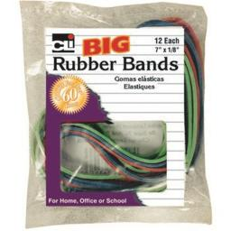 Charles Leonard 2317577 7 x 0.125 in. Rubber Bands, Big Size Assorted Colors, 12 Per Bag - Case of 144