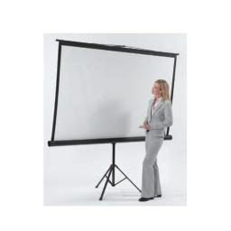 Aarco Products TPS-70 Tripod Floor Standing Projection Screen - Matte White