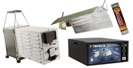 Sun System Grow Lights - Magnetic Trifecta Complete System - HPS Grow Lamp For Hydroponics and Greenhouse Use