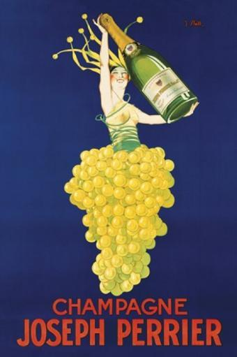 Champagne Perrier Poster Poster Print