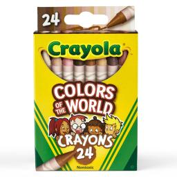 Crayola (12 pk) colors of the world crayons