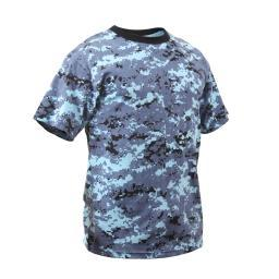 Rothco Kids Sky Blue Digital Camo T-Shirt