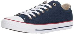 Converse Chuck Taylor All Star Ox Unisex Shoes Dark Blue/Natural Ivory/White 161489f (4 D(M) US)