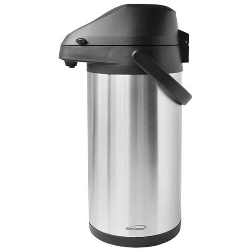 Brentwood appliances ctsa-3500 3.5-liter airpot & cold drink dispenser • Easy-to-use level action pump.• Sturdy carrying handle.• 360deg rotating base.• Stainless steel vacuum dispenser.3.5-Liter Airpot & Cold Drink Dispenser