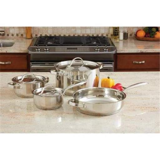 Ever Clad 7 Piece Heavy Duty Stainless Steel Cookware Set