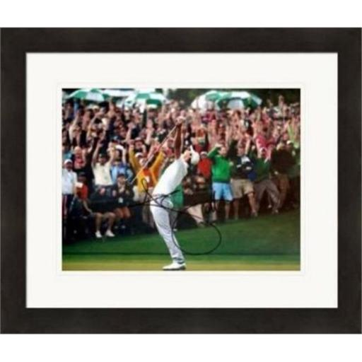 Autograph Warehouse 343009 8 x 10 in. Adam Scott Autographed Photo - Golf 2013 Masters Champion No. SC3 Celebration Matted & Framed