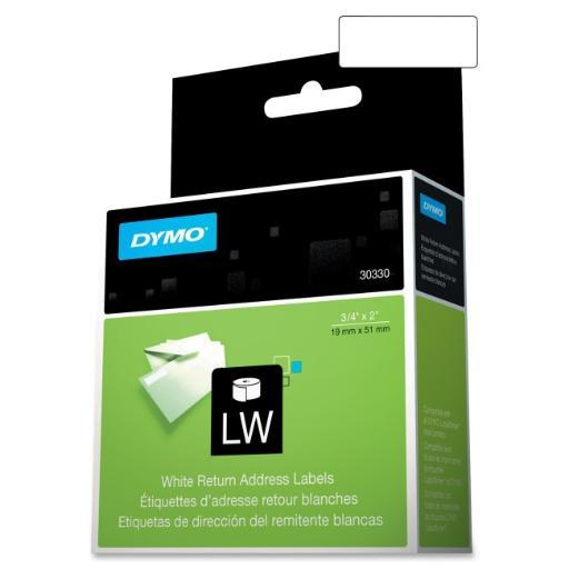 Dymo 30330 dymo return address labels - labels - address labels ( 500 per sheet/roll)